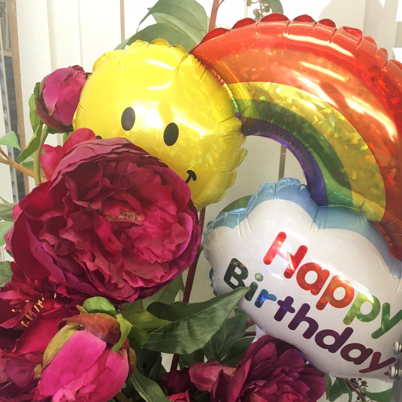 お誕生日には風船がもらえる会社です